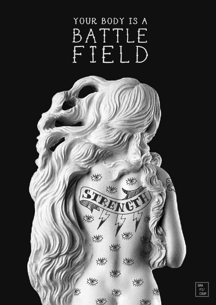 The Birth of Venus: Your Body is a Battlefield (Gery Paulandhika / @dysimaginarium)